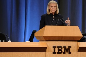 IBM net income decreased by 20 percent