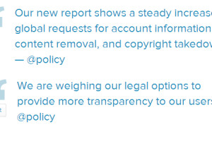 Twitter released the fifth report on transparency