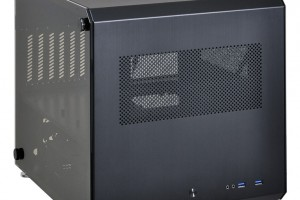 Similar to the cubic aluminum case Lian Li PC-V33 is designed for standard size ATX motherboard